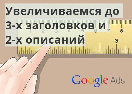 Расширенные текстовые объявления в Google